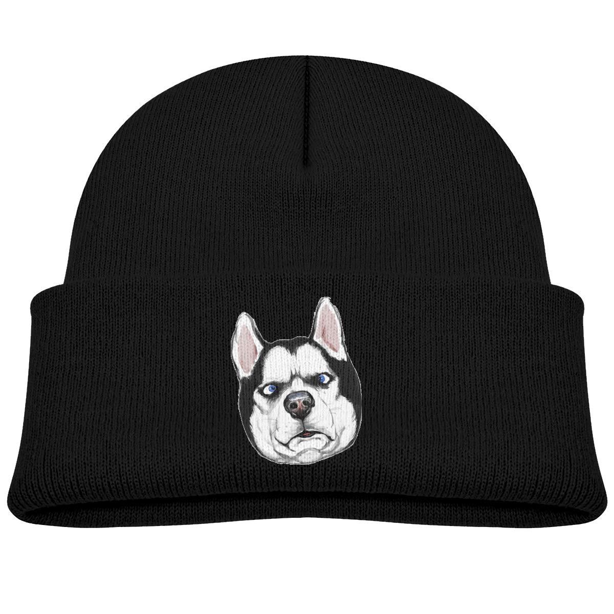 Banana King Siberian Husky Dog Baby Beanie Hat Toddler Winter Warm Knit Woolen Cap for Boys//Girls