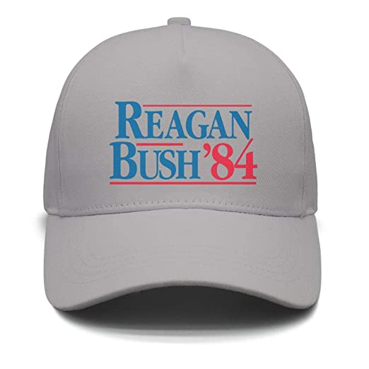 5b668ec75cca3 SSIZER Unisex Grey Snapback Hat for Mens Womens Reagan-Bush-84- Hip ...
