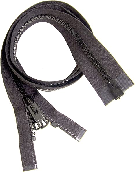 "1 YKK Zippers 66/"" Black #10 Metal Pull with Free Top Stops"