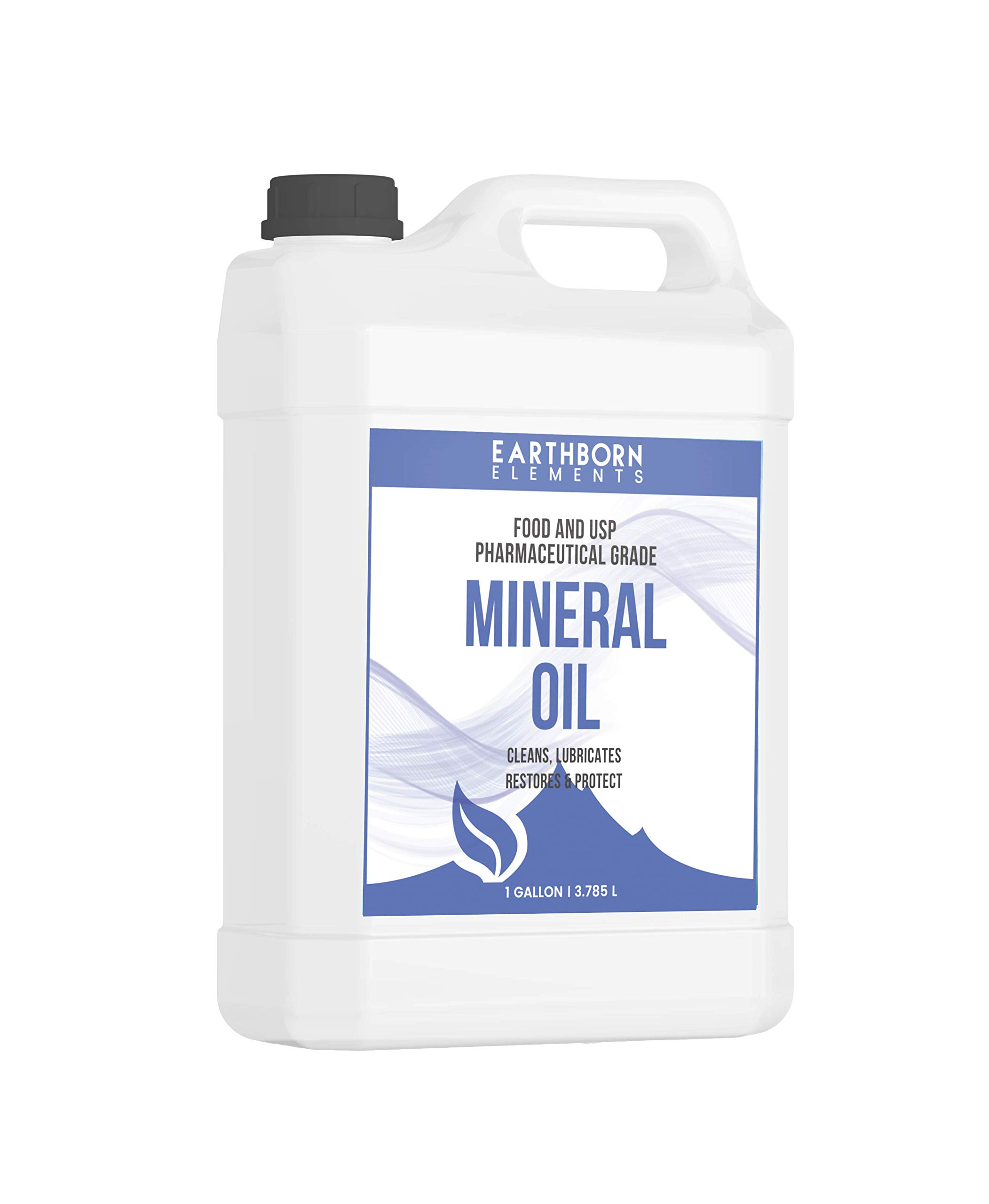 Mineral Oil (1 Gallon) by Earthborn Elements, Food & USP Grade, For Cutting Boards, Butcher Blocks, Counter Tops, Wooden Utensils by Earthborn Elements (Image #1)