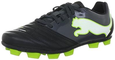 Puma PowerCat 4.12 r HG 102483, Herren Sportschuhe - Fußball, Schwarz (black-dark shadow-white-lime punch 02), EU 46 (UK 11) (US 12)