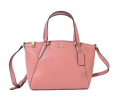 569ea4afed30 Amazon.com  Coach Pebble Leather Mini Kelsey Satchel Crossbody Handbag (IM  Vintage Pink)  Shoes