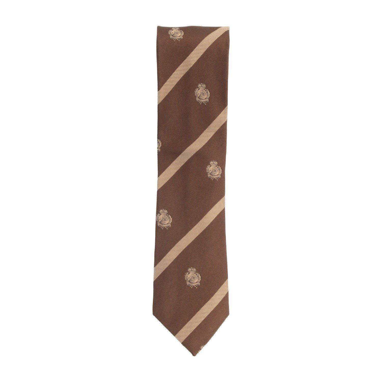 Silk Ties corbata de seda delgado marrón escudo de armas del lazo ...
