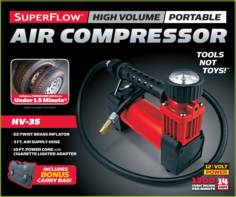 Q Industries hv-35 Superflow - 12 V 140 PSI compresor de Aire: Amazon.es: Coche y moto