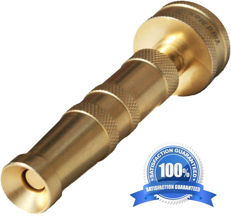 Amazon.com: Heavy Duty Solid Brass Garden Hose Twist Nozzle, Proven ...