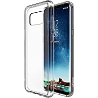 Atgoin Slim Fit Flexible TPU Gel Rubber Case for Galaxy S8 (Crystal Clear)