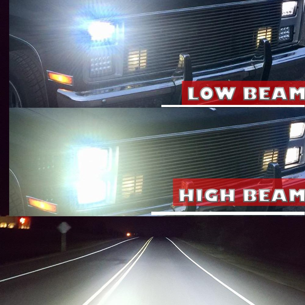 4X6 Led Light Bar DOT Rectagular Projector Lens Sealed Beam Headlight Assemblies Replace Hid Xenon Halogen Headlamps For KW Kenworth T600 T800 W900 Truck Nissa Ford Peterbilt 379 378 357 Chevy C10 S10 RV Suzuki DRZ Honda XR250 XR400 XR650