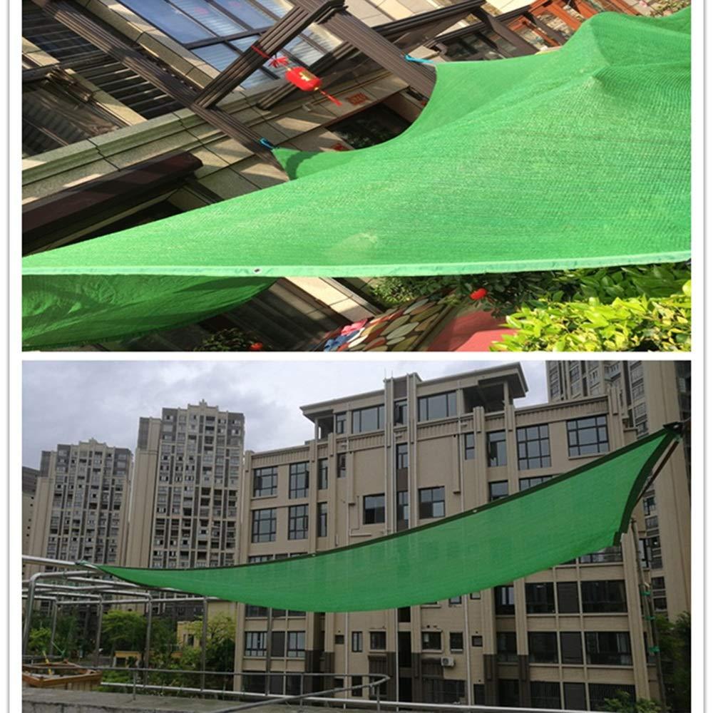 Sunshade Net Sunscreen cifrado Engrosamiento balcón Flor carnoso Rojo Patio Exterior Techo Rojo sombreado Rojo carnoso Color: Verde (Tamaño : 2  2m) b521e9