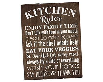 Sincerely Sunshine Kitchen Rules Sign Kitchen Wall Decor Rustic Kitchen  Sign Farmhouse Decor Kitchen Wall Art