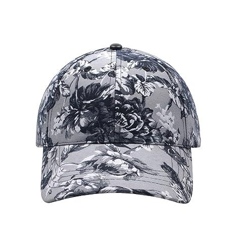 65b317610b7 Hatphile Womens Floral Jacquard Black Dad Cap (Grey) at Amazon Women s  Clothing store