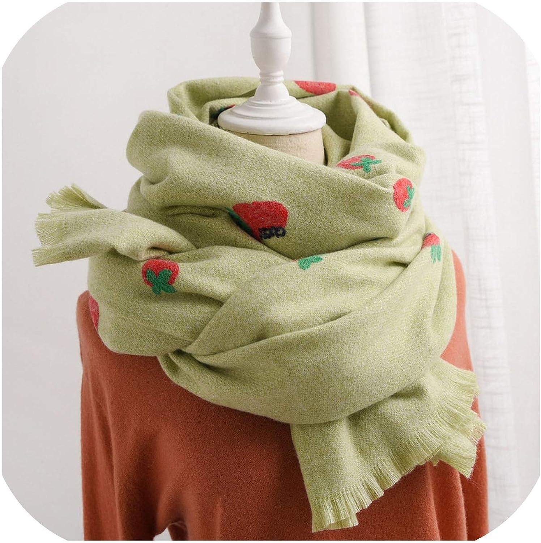 Scarf Cashmere Embroidery Shawls Scarves Bandana Women Poncho Scarf