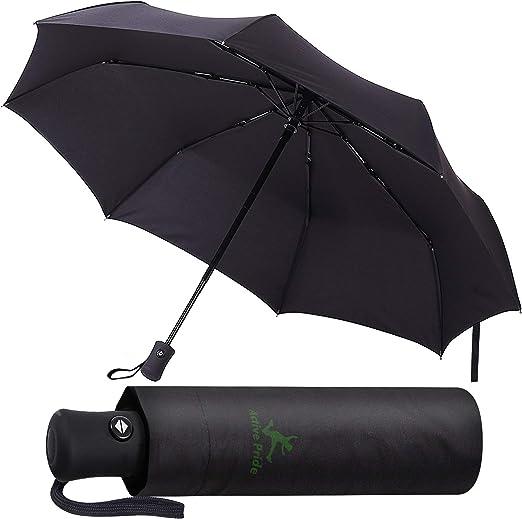 Paraguas Plegable Automático - Paraguas negro Compacto ...