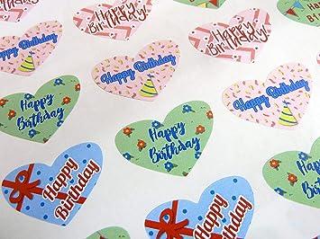 Amazon.com: Pack de 50 Tarjetas de Colorful Feliz cumpleaños ...
