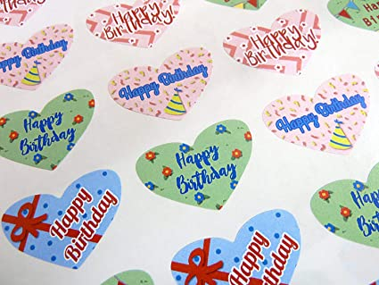Paquete de 50 Colorido Feliz Cumpleaños Saludo Corazones ...