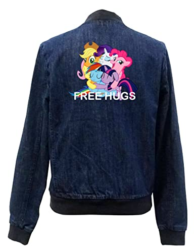 Free Hugs Pony Bomber Chaqueta Girls Jeans Certified Freak