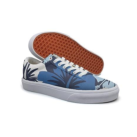 8f35b171b990d Amazon.com: Landsr Vintage Hawaiian Floral Aloha Men's Canvas Shoes ...