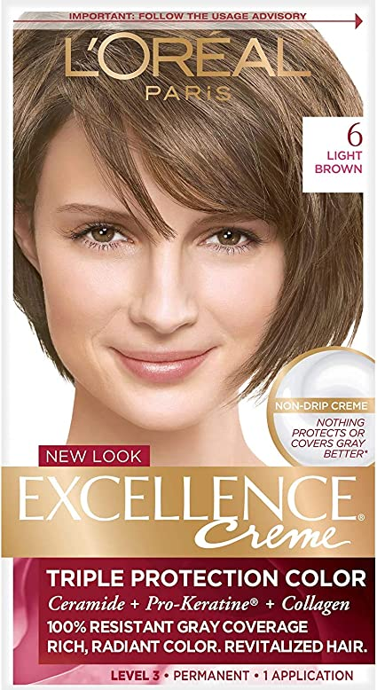 LOreal Paris Excellence Creme Hair Color, Light Brown 6 (Packaging may vary) by LOreal Paris