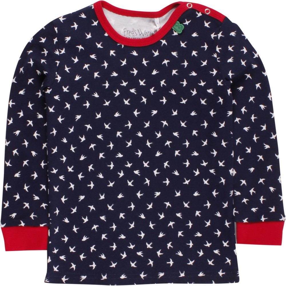 Freds World by Green Cotton M/ädchen Swallow T Baby T-Shirt