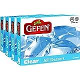 Gefen Clear Unflavored Jello, 3oz (4 Pack) Vegan Friendly, Easy to Prepare, Certified Kosher