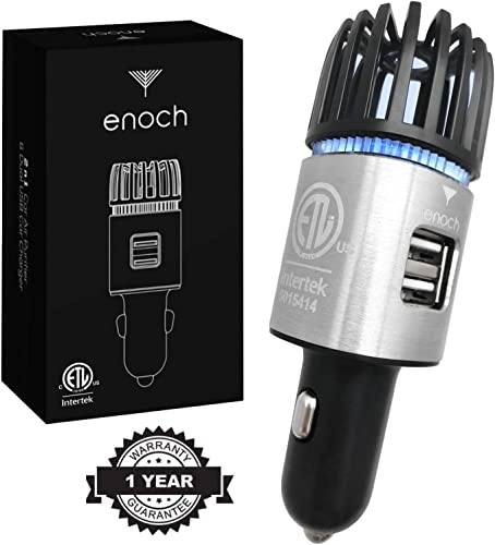 Enoch Car Air Purifier with USB Car Charger 2-Port