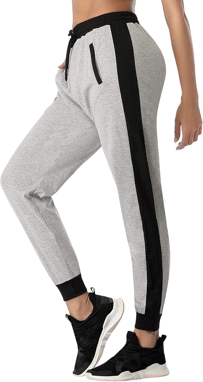 Sykooria Pantaloni Sportivi Donna in Cotone Pantaloni Jogger con Coulisse Pantaloni Piede del Fascio Casual Donne Pantaloni Sportivi Morbidi Leggeri