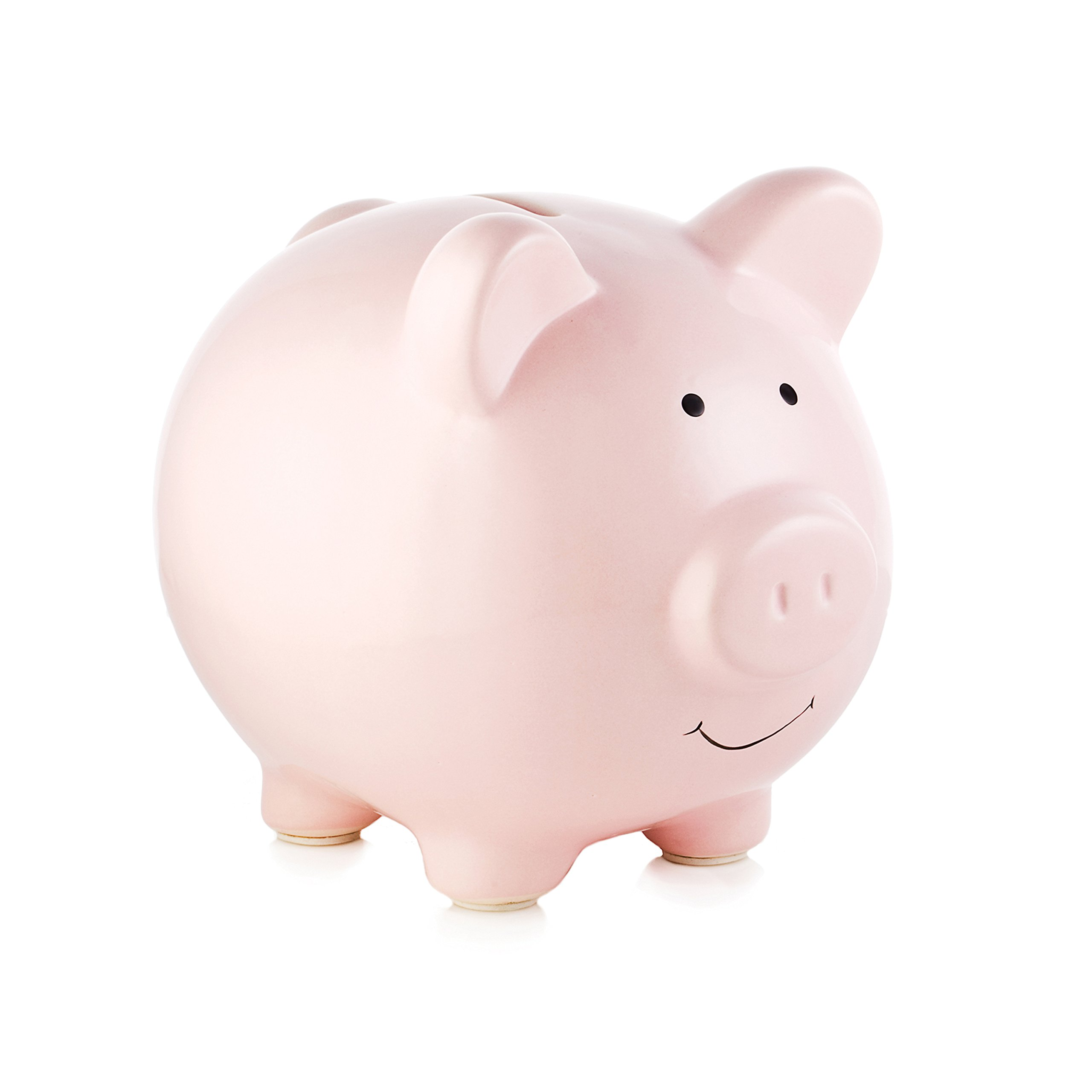 Amazon.com : Carters Smiley Happy Piggy Bank, Silver : Toy ...