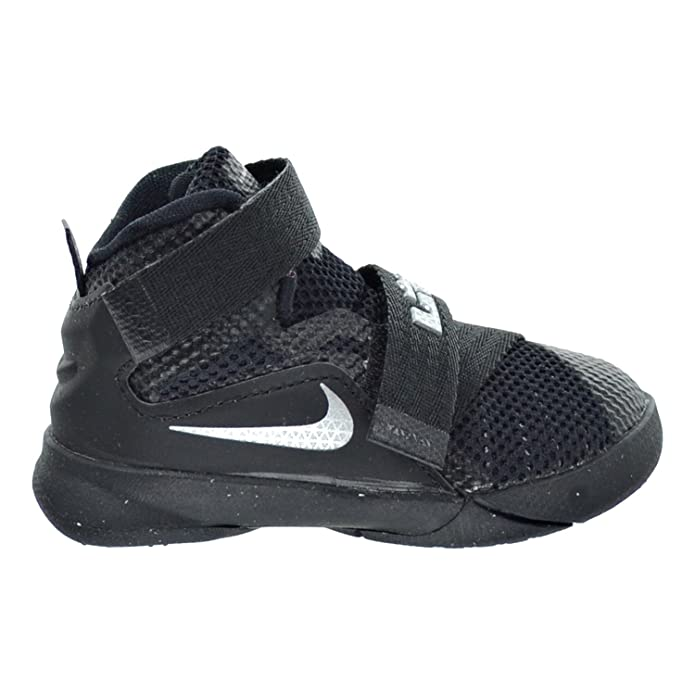 the latest 5f2d2 df056 Amazon.com   Nike Lebron Soldier IX (TD) Toddler s Shoes Black Metallic  Silver 776473-001 (5 M US)   Sneakers