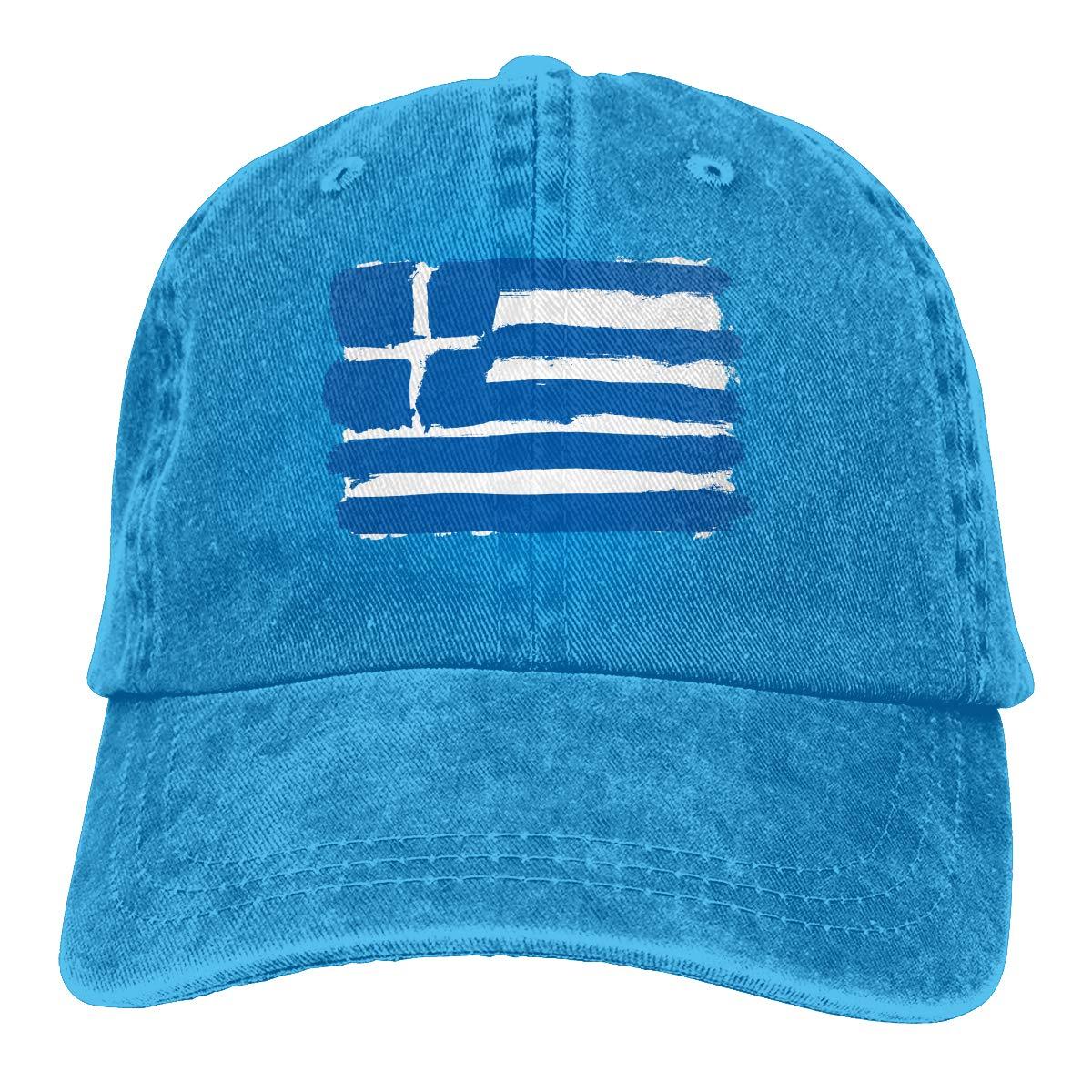 NCEUANCE Greece Greek Flag Caps Sports Trucker Caps Pattern Strapback Hat for Men//Women