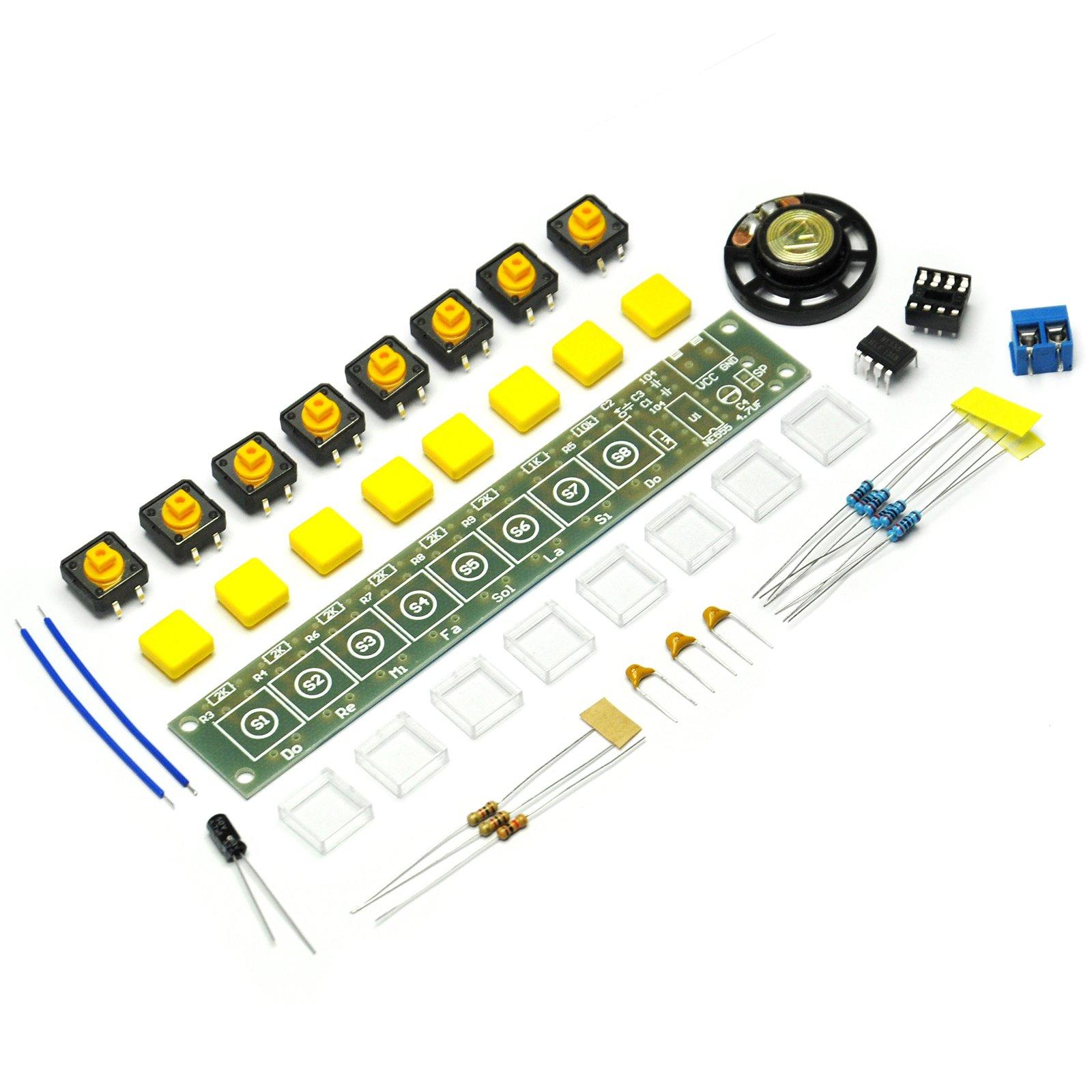 Gikfun NE555 Electronic organ DIY Scatter Diy making small invention electronic organ kit teaching kit for Arduino EK1898 by Gikfun (Image #1)