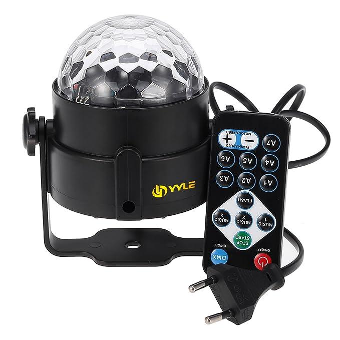 AGM RGB Disco Ball LED B ¡§ 1hnenbeleuchtung Lumiere DJ DMX Navidad iluminación proyector Party lámpara Sonido Light Show Efectos estroboscópicos: ...