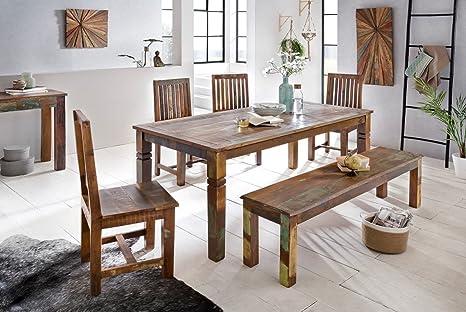 Sala Da Pranzo Shabby Chic : Wohnling tavolo per sala da pranzo delhi  cm in