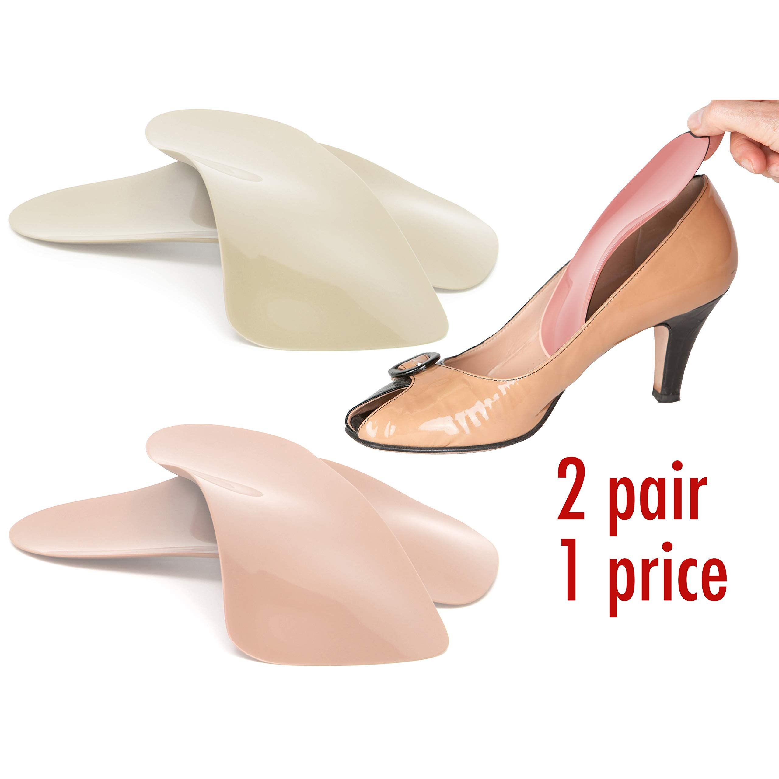 Travel Feet Balance Lady Foot Arch Supports for High Heels-Orthotic Insoles-Shoe Inserts for Women (2W6) Peach by Foot Supports Int'l