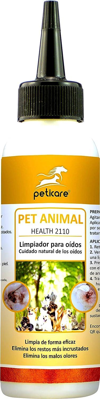 Peticare Bio Limpiador Oidos para Perro y Gato - Limpia Orejas ...