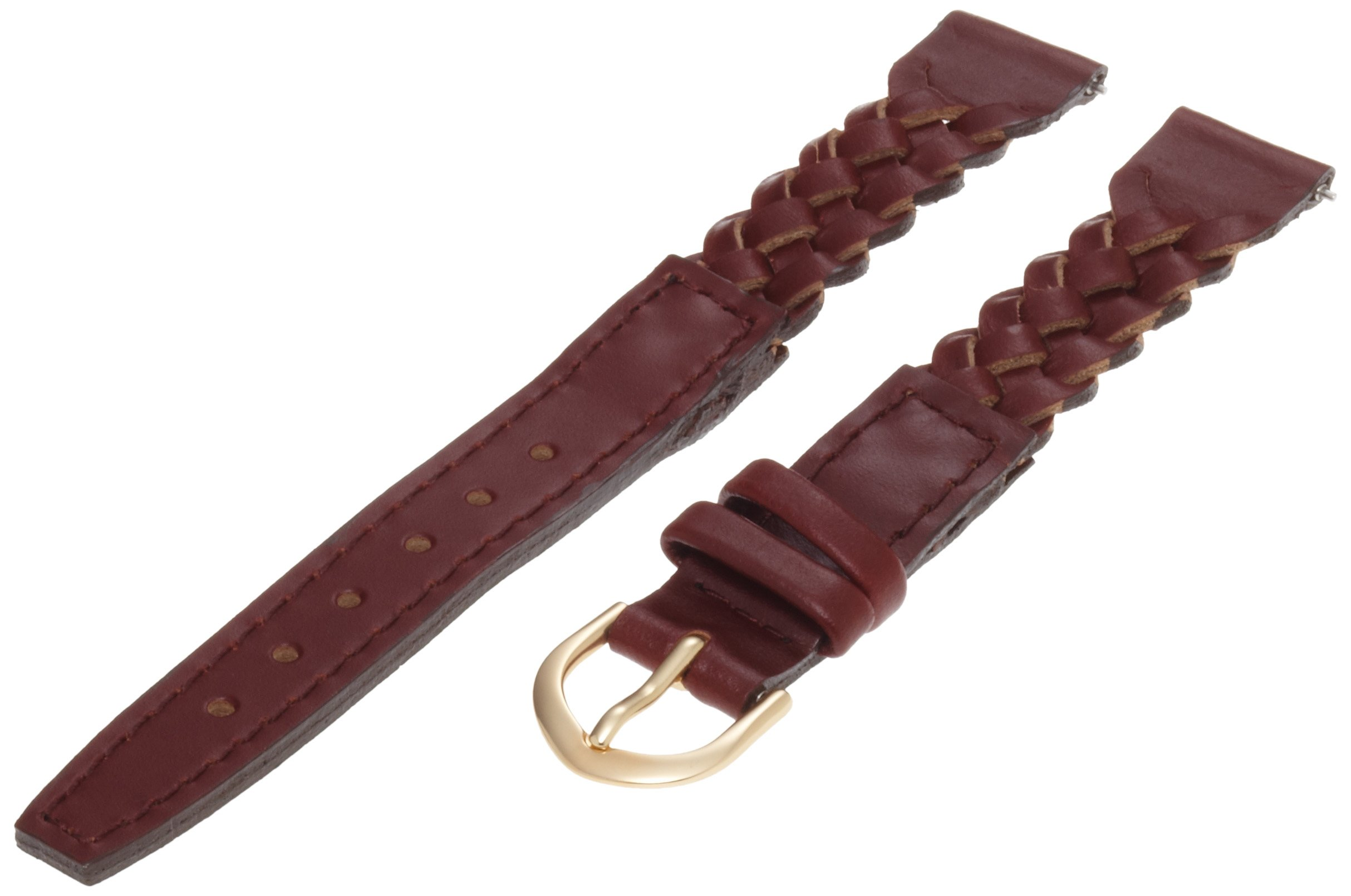 Timex Women's Q7B857 Woven Leather 13mm Brown Replacement Watchband