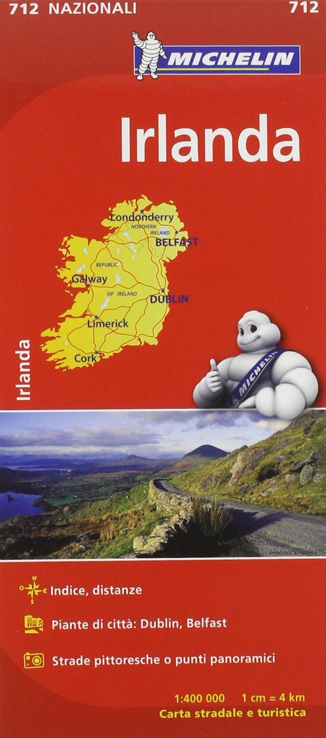 Irlanda Cartina Turistica.Amazon It Irlanda 1 400 000 Libri