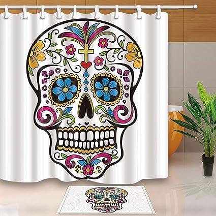 acheter tapis de bain tete de mort online 1