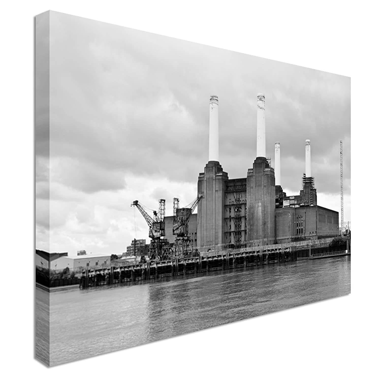 Battersea Power Station London Canvas Art Cheap Wall Print Home Interior