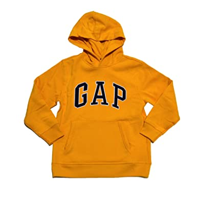 Amazon.com: GAP Boys Fleece Arch Logo Pullover Hoodie (Yellow ...