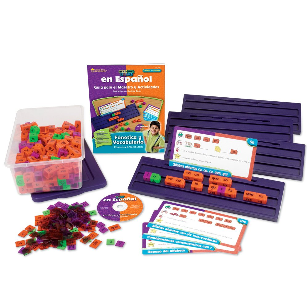 Learning Resources Spanish Reading Rods Phonics and Vocabulary (Fonetica y Vocabulario) Kit