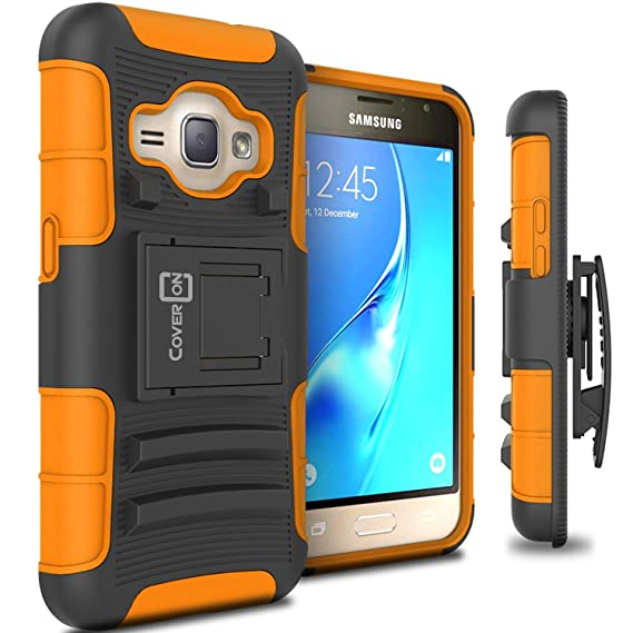 new product 6b656 19ff1 Galaxy Express 3 Case, CoverON [Explorer Series] Holster Hybrid Armor Belt  Clip Hard Phone Cover For Samsung Galaxy Express 3 Holster Case - Orange ...