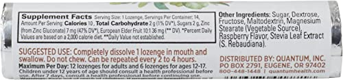 Quantum Health TheraZinc Elderberry Raspberry Lozenges Roll