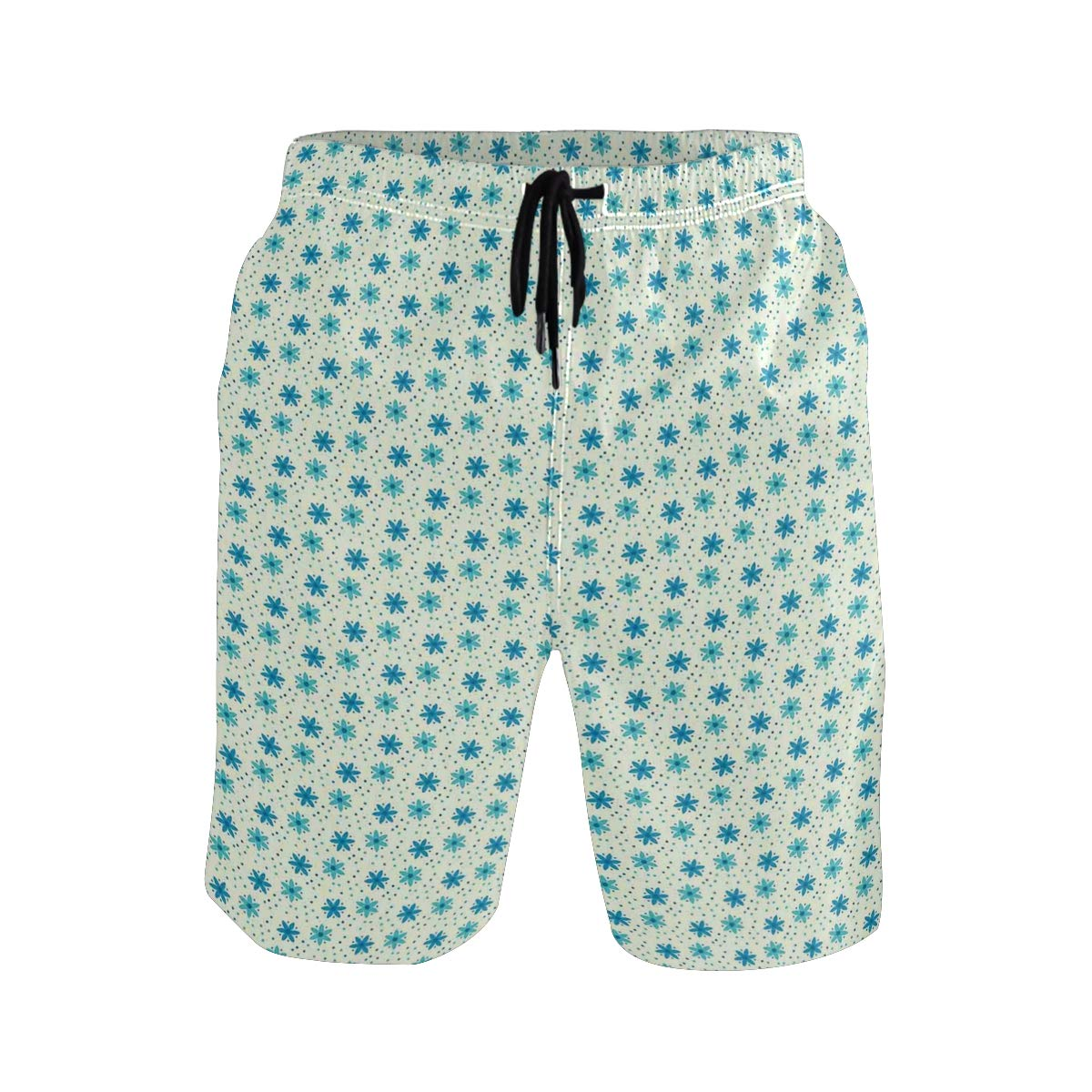 COVASA Mens Summer ShortsNostalgic Car Figure with Garage Service and Repair S