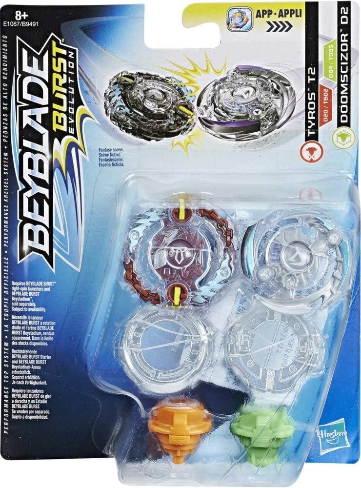Beyblade - E1067. Pack 2 peonzas. Tyros y Doomscizor.: Amazon.es ...