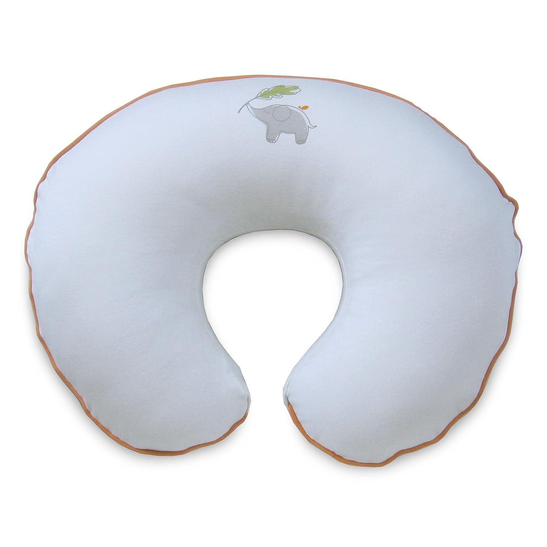 Boppy 3140497K AMC Pillow Slipcover, Organic Elephant, White 3140497K 6PK