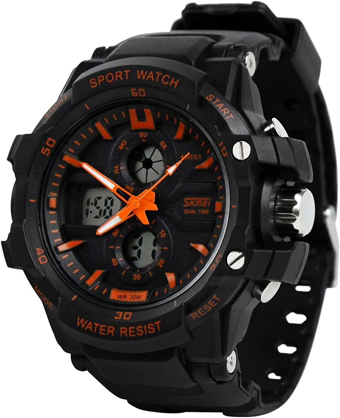 Sports Watch Men s Multi-Function Digital LED Watch Electronic Watch 50 Meters Waterproof Luminous Watch