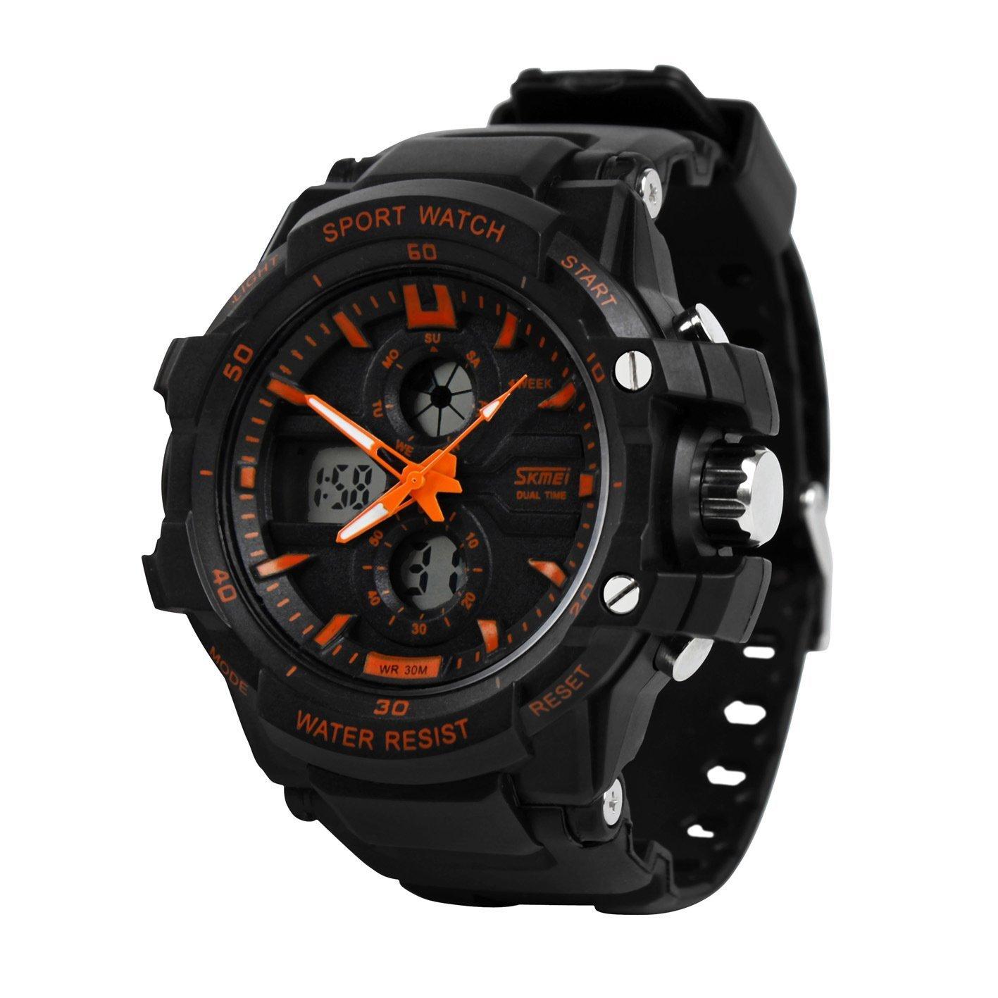 値引 (Orange) - J.MarketMen's Multi-function Watch 50 Digital LED watch B01KV23YXQ Electronic Sports Watch 50 Metres Waterproof Luminous Watch オレンジ B01KV23YXQ, North feel:8d4d4a5f --- ballyshannonshow.com