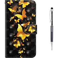 iPhone 6S Case,iPhone 6 Case,Grandoin [3D Colorful Cartoon Pattern Design Series] Premium PU Leather Magnetic Flip Cover with Card Slots Holders [Soft Silicone Inner] Bookstyle Wallet Case For Apple iPhone 6S / iPhone 6 4.7 Inch (Yellow Butterfly)