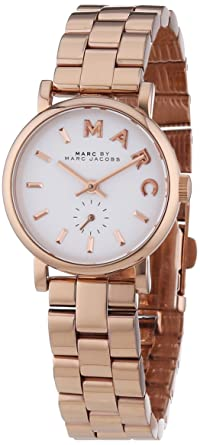 Amazon Com Marc By Marc Jacobs Baker White Dial Rose Gold Plated