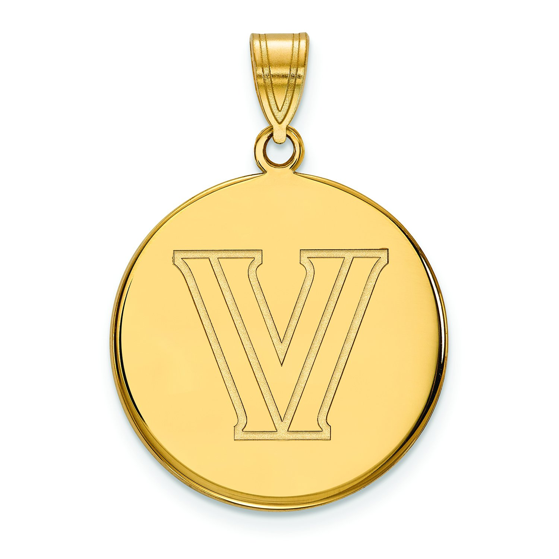Villanova Large ( 3 / 4インチ)ディスクペンダント( 10 Kイエローゴールド)