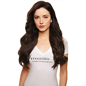 IRRESISTIBLE ME – Clip in Hair Extensions Medium Brown (Color #4) - 100